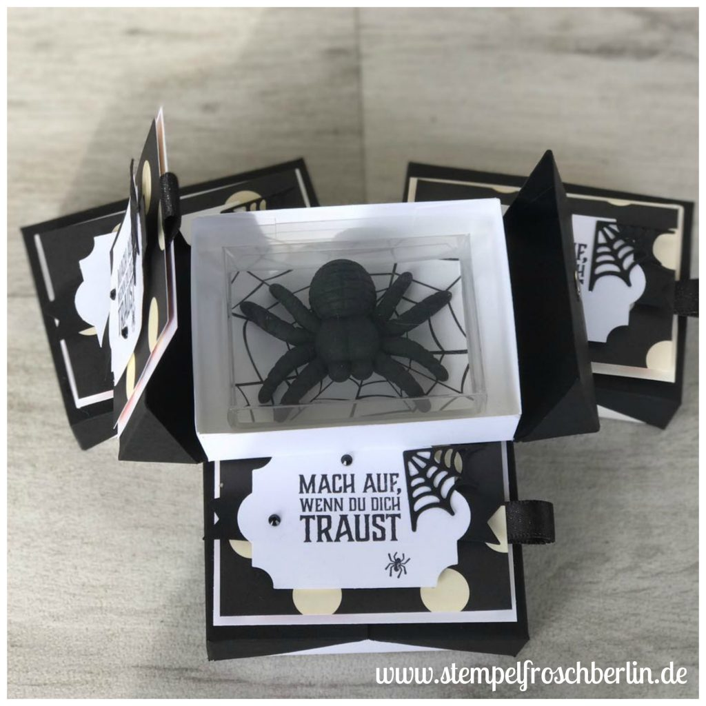 Halloween Double-Flip-Top-Box mit Spinne gebastelt mit den produkten von Stampi Up!