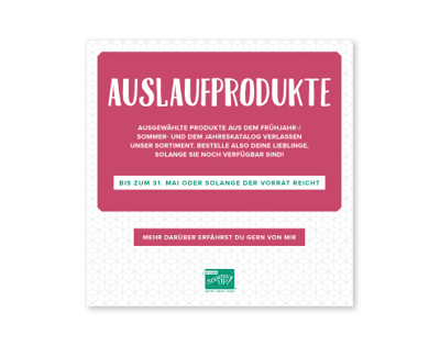 Auslaufliste 2018 Stampin Up