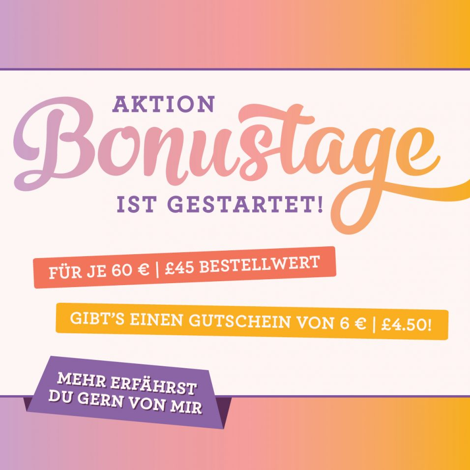 Stampin Up! Bonustage im August